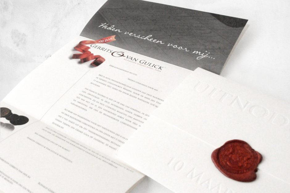 Ontwerp en drukwerk uitnodiging