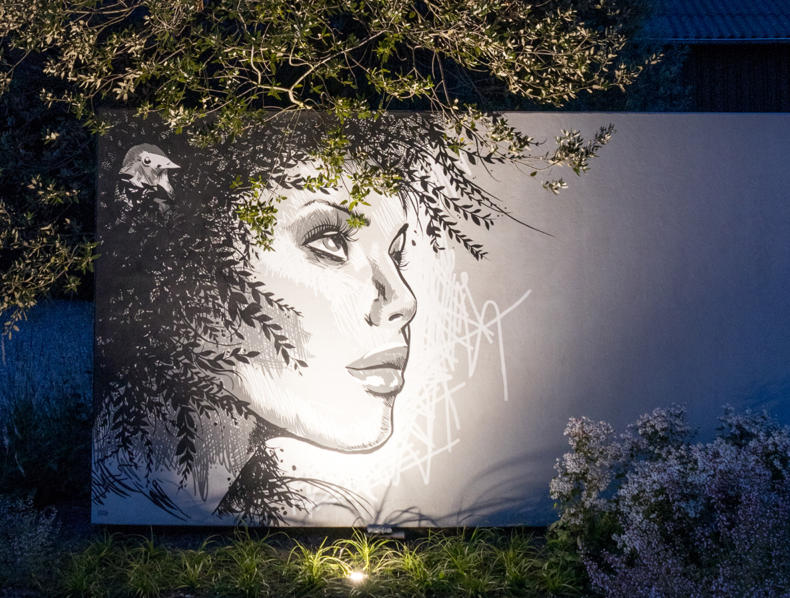 Siebers showtuin muurschildering